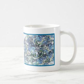 Blue Mums Basic White Mug