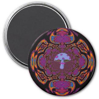 Blue Mushroom #12 7.5 Cm Round Magnet