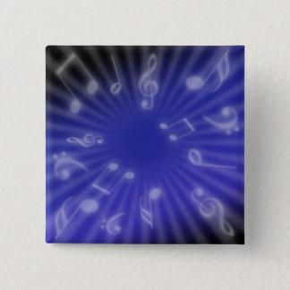 Blue Music 15 Cm Square Badge