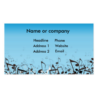 Blue Music Pack Of Standard Business Cards