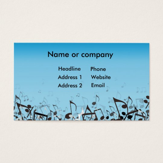 Blue Music Business Card