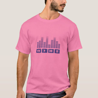 blue music buttons with equalizer t-shirt