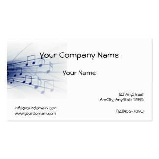 Blue Music Explosion on White Background Business Cards