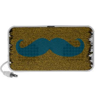Blue Mustache Mp3 Speaker