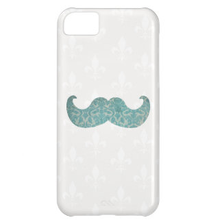 Blue Mustache - Vintage Damask iPhone 5C Case