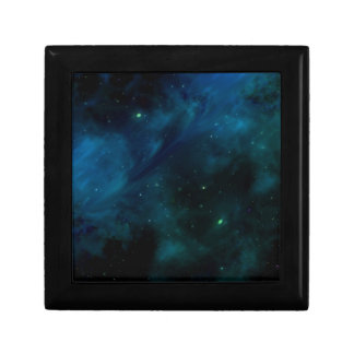 Blue Mysterious Space and Stars design Small Square Gift Box