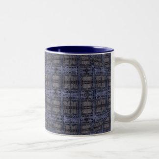 blue mystic door Two-Tone coffee mug
