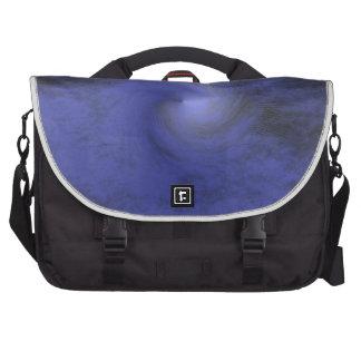 Blue Mystic Spiral Laptop Bags