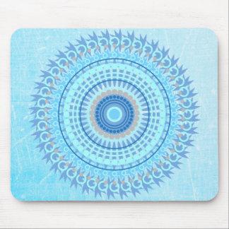 Blue Mystical Mandala Mouse Pad