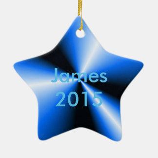 Blue 'N Black Points 'N Cones Christmas Ornament