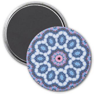 blue n pink kaleidoscope magnet