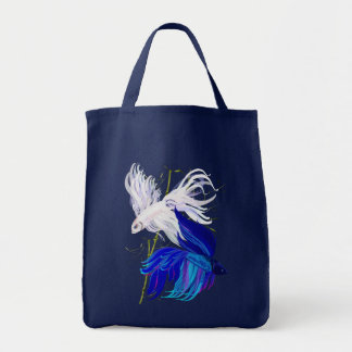Blue 'n' White Siamese Fighting Fish Bags