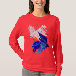 Blue 'n' White Siamese Fighting Fish Shirt