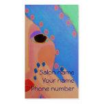 Blue Nail Polish Business Card Templates