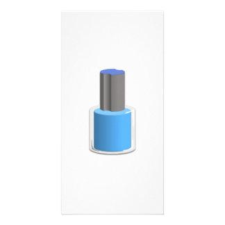 Blue Nail Polish Custom Photo Card