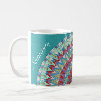 Blue Namaste Mandala2 Coffee Mug