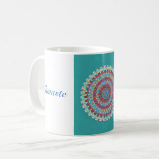 Blue Namaste Mandala Coffee Mug