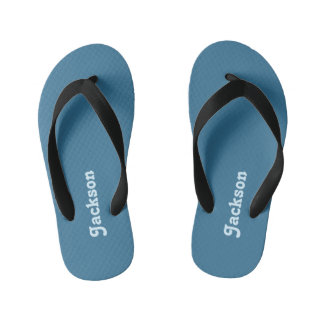 Blue Name Boys Kid's Flip Flops