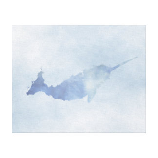 """Blue Narwhal Canvas Print (20""""x16"""")"""