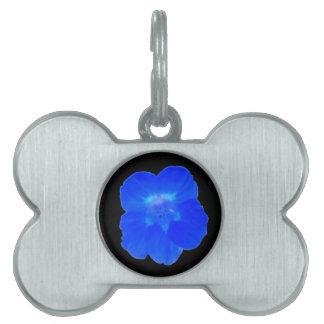 Blue Nasturtium Pet Tag