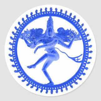 Blue Nataraja Classic Round Sticker