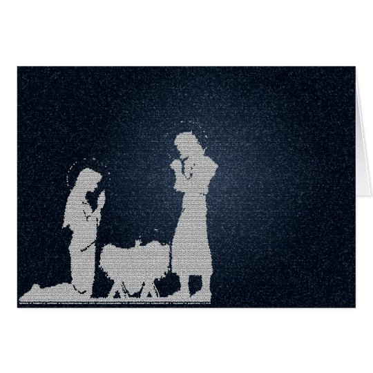 Blue Nativity - Textured Card