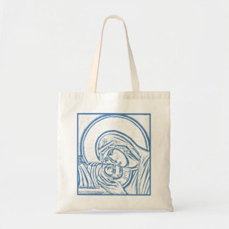 Blue Nativity Tote Budget Tote Bag