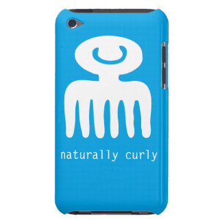 Blue naturally curly iPod touch cases