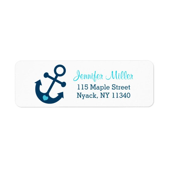 Blue Nautical Anchor Baby Shower Address