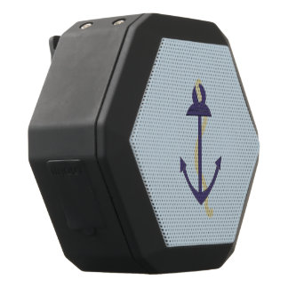 Blue Nautical Anchor Black Bluetooth Speaker