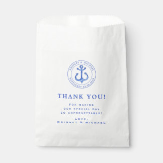 Blue Nautical Anchor   Wedding Thank You Favour Bags