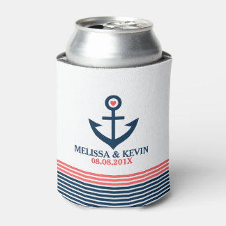 Blue Nautical Boat Anchor & Decorative Stripes