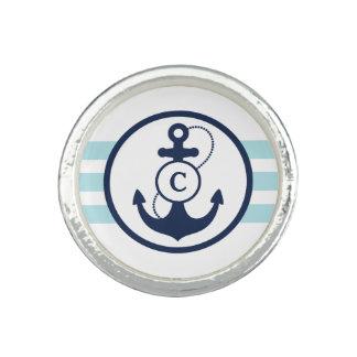 Blue Nautical Monogram