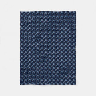 Blue Nautical Pattern Small Fleece Blanket