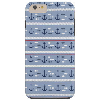 Blue Nautical Summer Tough iPhone 6 Plus Case