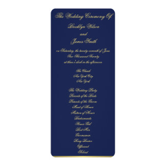Blue Nautical Wedding Ceremony Programs Cards 10 Cm X 24 Cm Invitation Card