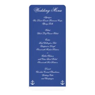 Blue Nautical Wedding Menu Custom Invitations