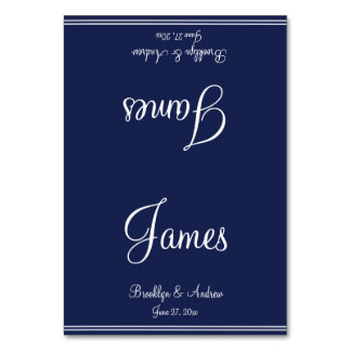 Blue Nautical Wedding Table Cards Seating Cards