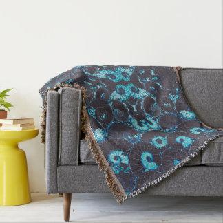 Blue Nautilus Throw Blanket