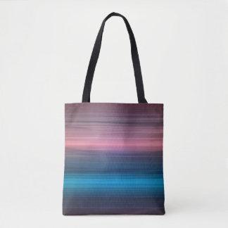 Blue, navy and violet spectrum tote bag