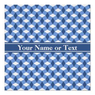 Blue/Navy/Gray Wavy Pattern Invitation