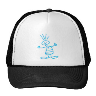 Blue neon boy design mesh hat
