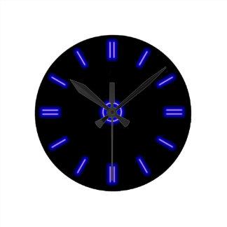 Blue Neon Clock