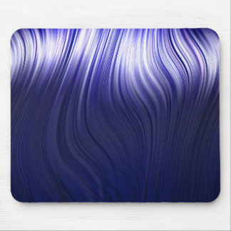 blue neon hair mouse pad