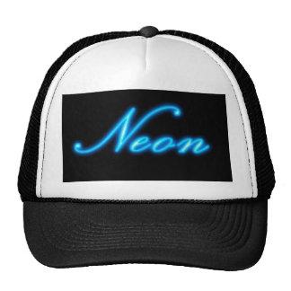 Blue Neon Hats