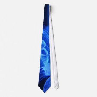 Blue Neon Jellyfish Tie