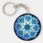 Blue Neon Kaleido-Star Keychains