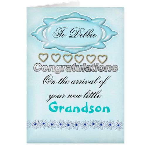 Blue New Baby Congratulations Card, Grandmother