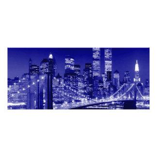 Blue New York City Personalized Invitations