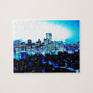 Blue New York Jigsaw Puzzle